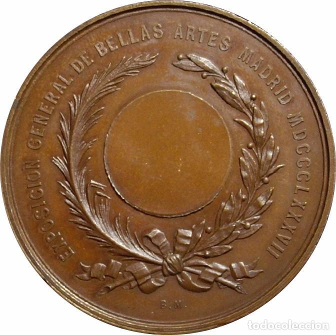 Medallas históricas: ESPAÑA. MARÍA CRISTINA REINA REGENTE. MEDALLA EXPOSICIÓN GENERAL DE BELLAS ARTES. MADRID 1.887 - Foto 2 - 94746927
