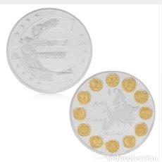Medallas históricas: MONEDA CONMEMORATIVA UNION EUROPEA EURO PAISES MIEMBROS - PLATA. Lote 95430391