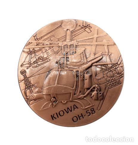 MONEDA CONMEMORATIVA HELICOPTERO KIOWA OH-58 EJERCITO ESTADOS UNIDOS - MILITAR LEER DESCRIPCION (1) (Numismática - Medallería - Histórica)