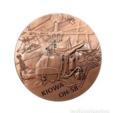 Medallas históricas: MONEDA CONMEMORATIVA HELICOPTERO KIOWA OH-58 EJERCITO ESTADOS UNIDOS - MILITAR LEER DESCRIPCION (1). Lote 95431151
