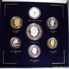 Medallas históricas: ESPAÑA. SET PESETAS HISTÓRICAS. 7 PIEZAS. PLATA PROOF. C/ ESTUCHE Y CERTIFICADO. Lote 95631007