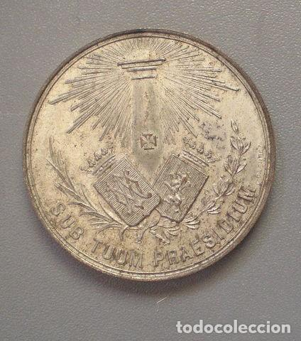 MEDALLA 2º CONGRESO CATÓLICO NACIONAL. ZARAGOZA 1890 (Numismática - Medallería - Histórica)