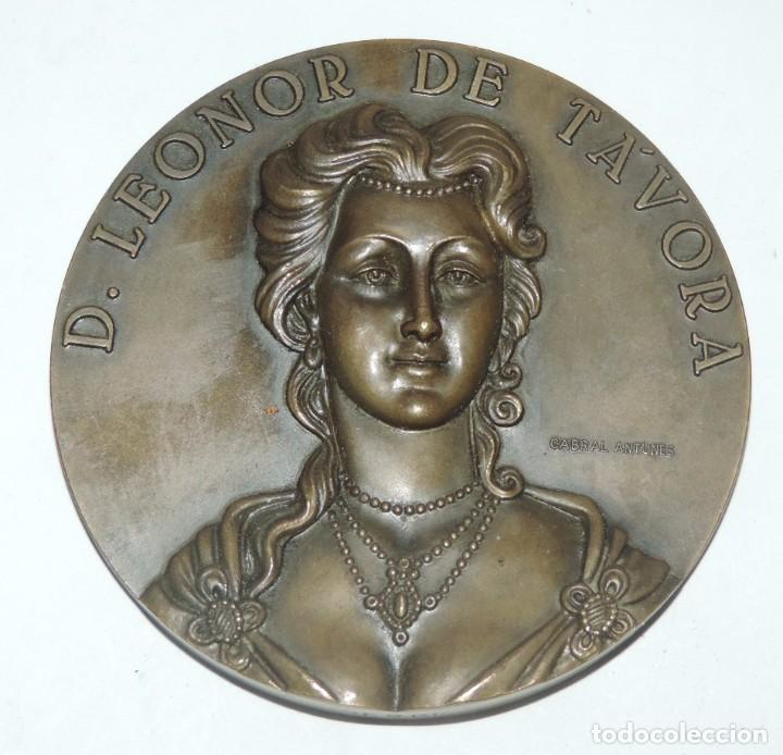 Medallas históricas: MEDALLA DE D. LEONOR DE TÁVORA, REALIZADA EN BRONCE, REALIZADA POR CABRAL ANTUNES, 3ª MARQUESA DE TA - Foto 1 - 98426475
