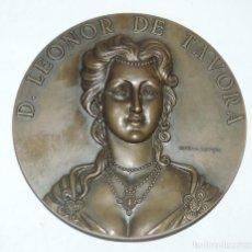 Medallas históricas: MEDALLA DE D. LEONOR DE TÁVORA, REALIZADA EN BRONCE, REALIZADA POR CABRAL ANTUNES, 3ª MARQUESA DE TA. Lote 98426475