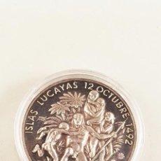 Medallas históricas: ESPAÑA. MEDALLA CONMEMORATIVA DEL V CENTENARIO DEL DESCUBRIMIENTO DE AMÉRICA,. Lote 98850471