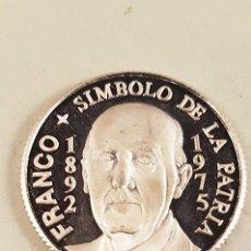 Medallas históricas: MONEDA MEDALLA DE FRANCO - SÍMBOLO DE LA PATRIA - PLATA, TAMAÑO 3 CM. Lote 98852463