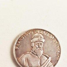 Medallas históricas: MEDALLA MONEDA FRANCISCO PIZARRO - CIUDAD DE TRUJILLO. TAMAÑO 2 CM. Lote 98853139