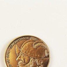 Medallas históricas: MEDALLA CONMEMORATIVA DE HERNANDO DE SOTO CONQUISTADOR. THE SOTO CELEBRATION 1993. BRADENTON FLORIDA. Lote 98853731