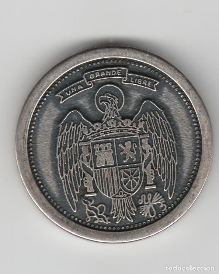 Medallas históricas: ANTIGUA DEMALLA DE FRANCISCO FRANCO-CAUDILLO DE ESPAÑA - Foto 2 - 99357711