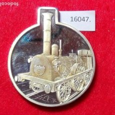 Medallas históricas: MEDALLA ALEMANIA, CON CERTIFICADO FERROCARRIL, TREN. Lote 101012215