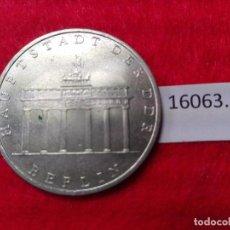 Medallas históricas: ALEMANIA COMUNISTA RDA ; DDR 5 MARCOS 1971 A. Lote 101056739