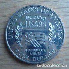 Medallas históricas: MONEDA / MEDALLA - AMERICA WORLD CUP USA 94 - ONE DOLAR CECA S - E PLURIBUS UNUM. Lote 101743859