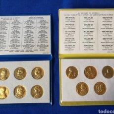 Medallas históricas: EL VATICANO - 2 CARTERAS OFICIALES - LOS PAPAS DEL SIGLO XX Y LOS AÑOS SANTOS DEL SIGLO XX. Lote 103195991