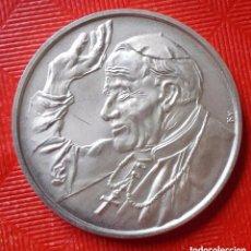 Medallas históricas: ONZA DE PLATA - PLATA 999 - II JANOS PAL PAPA - LATOGACASA HAZANKBAN. Lote 103197583