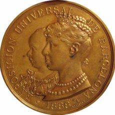 Medallas históricas: ALFONSO XIII. MEDALLA EXPOSICIÓN UNIVERSAL BARCELONA 1.888. Lote 44905645