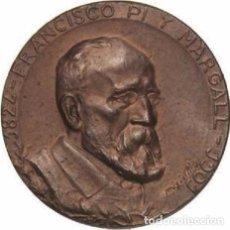 Medallas históricas: ESPAÑA. MEDALLA FRANCISCO PÍ Y MARGALL. 1.901. PRESIDENTE PRIMERA REPÚBLICA. Lote 103741935