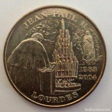 Medallas históricas: MEDALLA DEL PAPA JUAN PABLO II EN NOTRE DAME DE LOURDES. Lote 104033539