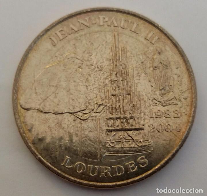 Medallas históricas: MEDALLA DEL PAPA JUAN PABLO II EN NOTRE DAME DE LOURDES - Foto 3 - 104033539