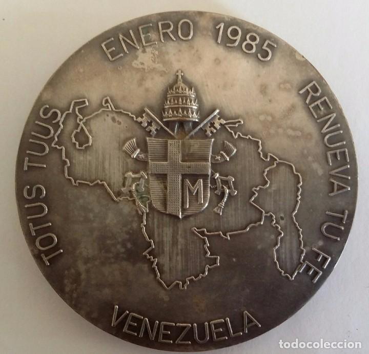 Medallas históricas: PRECIOSA MEDALLA JUAN PABLO II EN VENEZUELA DE A. CONSONNI. RENUEVA TU FE JOANNES PAULUS II PONT MAX - Foto 2 - 104045531