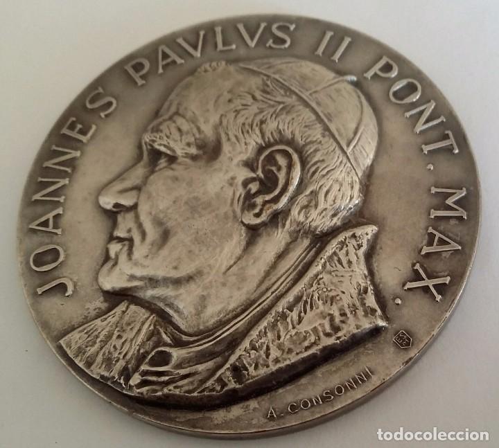Medallas históricas: PRECIOSA MEDALLA JUAN PABLO II EN VENEZUELA DE A. CONSONNI. RENUEVA TU FE JOANNES PAULUS II PONT MAX - Foto 3 - 104045531
