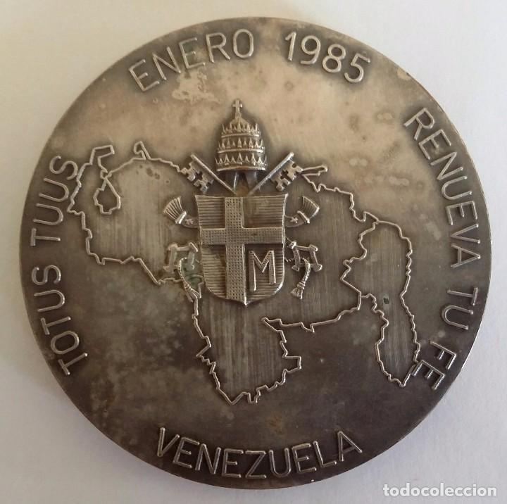 Medallas históricas: PRECIOSA MEDALLA JUAN PABLO II EN VENEZUELA DE A. CONSONNI. RENUEVA TU FE JOANNES PAULUS II PONT MAX - Foto 4 - 104045531