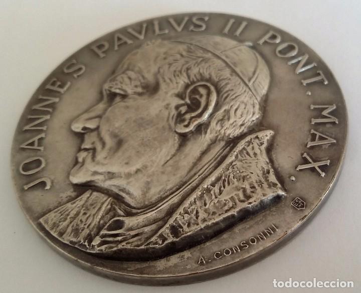Medallas históricas: PRECIOSA MEDALLA JUAN PABLO II EN VENEZUELA DE A. CONSONNI. RENUEVA TU FE JOANNES PAULUS II PONT MAX - Foto 5 - 104045531