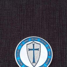 Medallas históricas: MONEDA PLATEADA CABALLEROS TEMPLARIOS. Lote 104090259