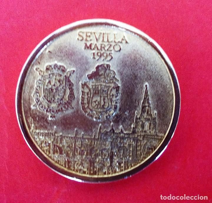 MEDALLA BODA JAIME Y ELENA (PRINCESA) EN SEVILLA *MARZO 1995 (Numismática - Medallería - Histórica)