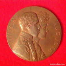 Medallas históricas: EXCELENTE MEDALLA DE LA BODA DE ALFONSO XIII CON VICTORIA EUGENIA DE BATTENBERG, MADRID 31 MAYO 1906. Lote 104811987