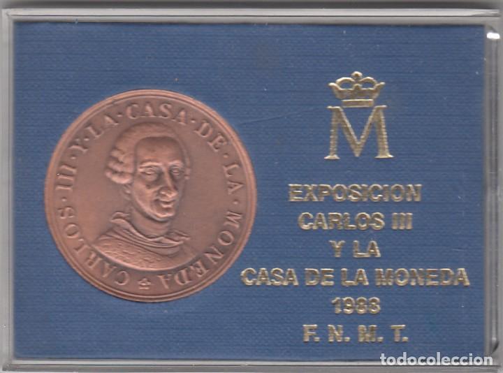 MEDALLA: 1988 EXPOSICION CARLOS III Y LA CASA DE LA MONEDA F.N.M.T. (Numismática - Medallería - Histórica)