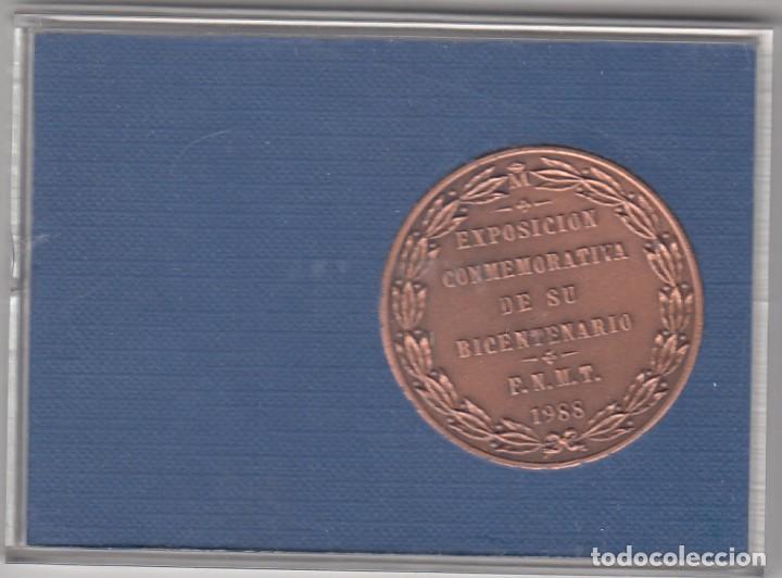 Medallas históricas: MEDALLA: 1988 EXPOSICION CARLOS III Y LA CASA DE LA MONEDA F.N.M.T. - Foto 2 - 106066679