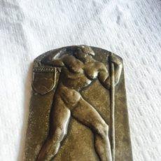 Medallas históricas: MEDALLA MARCHA DE LAS X HORAS PEÑALARA 1927, PLATA. Lote 107256995