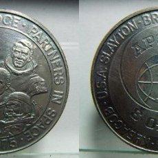 Medallas históricas: MEDALLA APOLO JULIO 75 PLATA 38 MM. Lote 107851847
