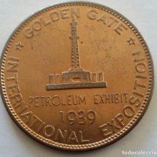 Medallas históricas: MEDALLA DE 1939 CONMEMORATIVA DE LA EXPOSICIÓN INTERNATIONAL GOLDEN GATE EN U.S.A. Lote 108821451