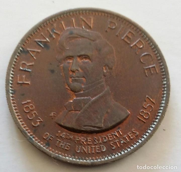 MEDALLA DEL PRESIDENTE DE ESTADOS UNIDOS - 14VO. FRANKLIN PIERCE. U.S.A. (Numismática - Medallería - Histórica)