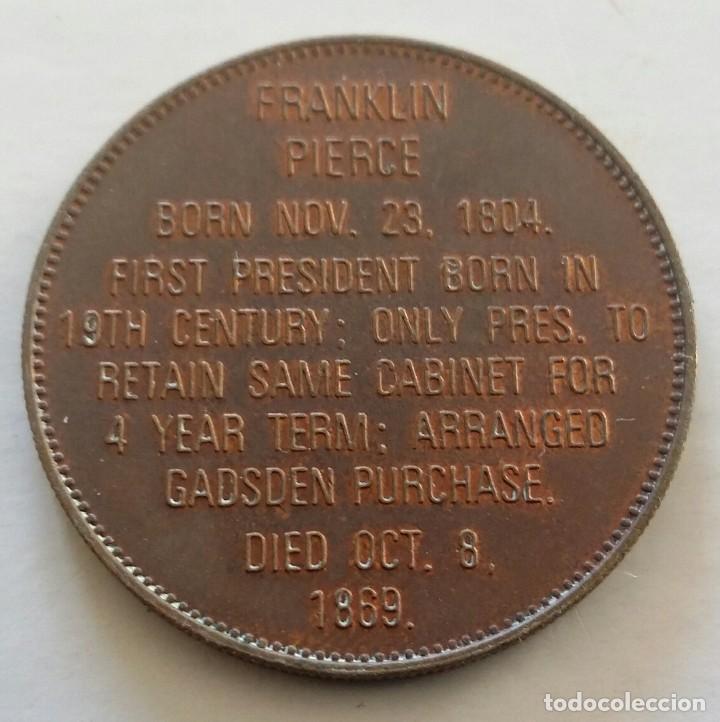Medallas históricas: Medalla Del Presidente De ESTADOS UNIDOS - 14vo. Franklin Pierce. U.S.A. - Foto 2 - 108826311