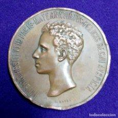 Medallas históricas: ANTIGUA MEDALLA DE PROCLAMACION Y JURA DE ALFONSO XIII. 1902. (COBRE). Lote 109461519