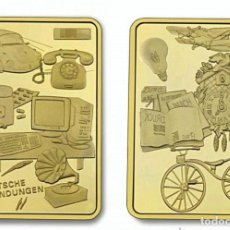 Medallas históricas: LINGOTE INVENTOS EPICOS CREADOS X ALEMANES. Lote 133667230