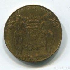 Medallas históricas: BELGICA. MEDALLA DE LA EXPOSICIÓN DE AMBERES 1930. (MEDAILLE EXPOSITION D'ANVERS). 28 MM. Lote 110089555