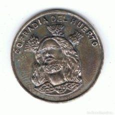 Medallas históricas: MEDALLA DE PLATA CONMEMORATIVA 75 ANIVERSARIO 1921-1996 COFRADÍA DEL HUERTO. Lote 110603375