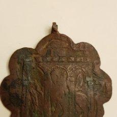 Medallas históricas: PINJANTE GÓTICO DE COBRE DE 8 LÓBULOS. LEÓN ALADO, SAN MARCOS BAJO TRES ARCOS. SIGLO XIV-XV. Lote 111386187
