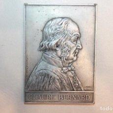 Medallas históricas: PLACA, MEDALLA, CLAUDE BERNARD, FIRMADA POR A. BORELL, 1913, 11X8 CM. Lote 111681667