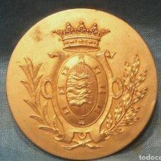 Medallas históricas: EXPOSICIÓN DE AGRICULTURA, INDUSTRIA Y ARTES. PREMIO AL MÉRITO. VALLADOLID 1906, BRONCE DORADO.. Lote 113186556