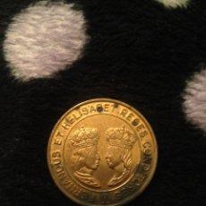 Medallas históricas: MEDALLA REYES CATOLICOS CONMEMORATIVA 1491 1991 SANTA FE. Lote 113537272