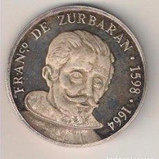 Medallas históricas: MEDALLA DEL PINTOR DE BADAJOZ FRANCISCO DE ZURBARÁN NACIDO EL1598 FALLECIDO EN 1664 EN MADRID (MD47). Lote 113602639