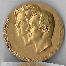 Medallas históricas: MEDALLA CONMEMORATIVA JUAN CARLOS Y SOFIA Y PRINCIPE FELIPE PRINCIPE DE ASTURIAS Y DE GERONA. Lote 113645131