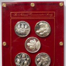 Medallas históricas: ASTRONAUTAS - CARRERA ESPACIAL - BLISTER METACRILATO CON 5 MEDALLAS DE PLATA - ASTRONAUTA. Lote 113857455