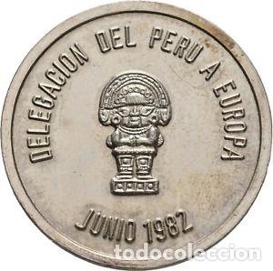 MEDALLA PERUANA PLATA 1982 (Numismática - Medallería - Histórica)