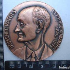 Medallas históricas: MEDALLA CONMEMORATIVA DOMENEC RAFOLS. Lote 115253511