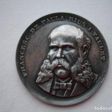Medallas históricas: MEDALLA CONMEMORATIVA DE FRANCESC DE PAULA RIUS Y TAULET. Lote 116133919